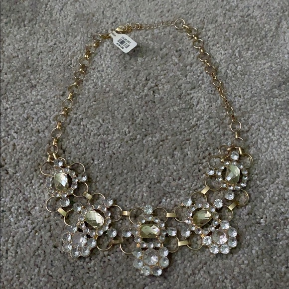 NWT - Francesca's Gold Statement Necklace